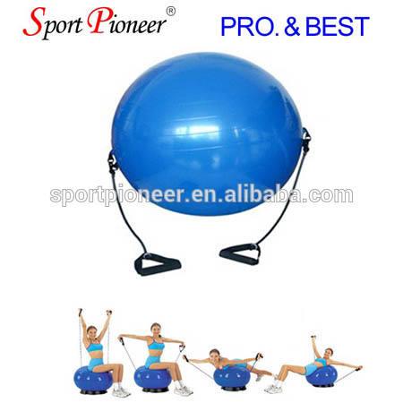 65cm boule de gymnastique avec bande de résistance de base ball boule de yoga pilates exercice avec tube extensible
