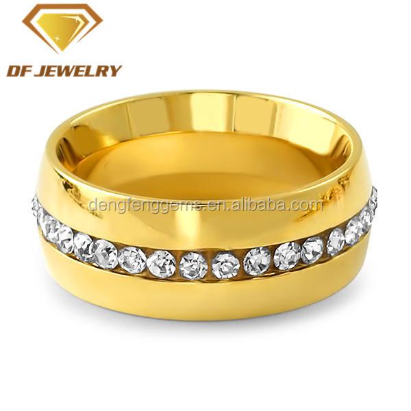 عالية الجودة 14 كيلو الذهب مطلي تشيكوسلوفاكيا حجر خاتم رجالي <span class=keywords><strong>enternity</strong></span>
