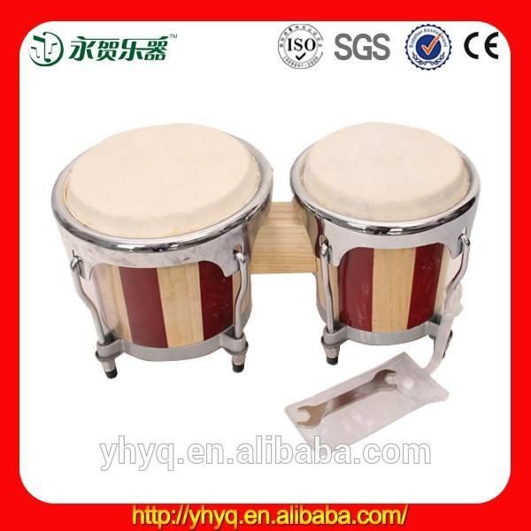 Bongo percusión pro- serie sintonizable bongos 6.5& 7.5 pulgadas bongo <span class=keywords><strong>tambores</strong></span>