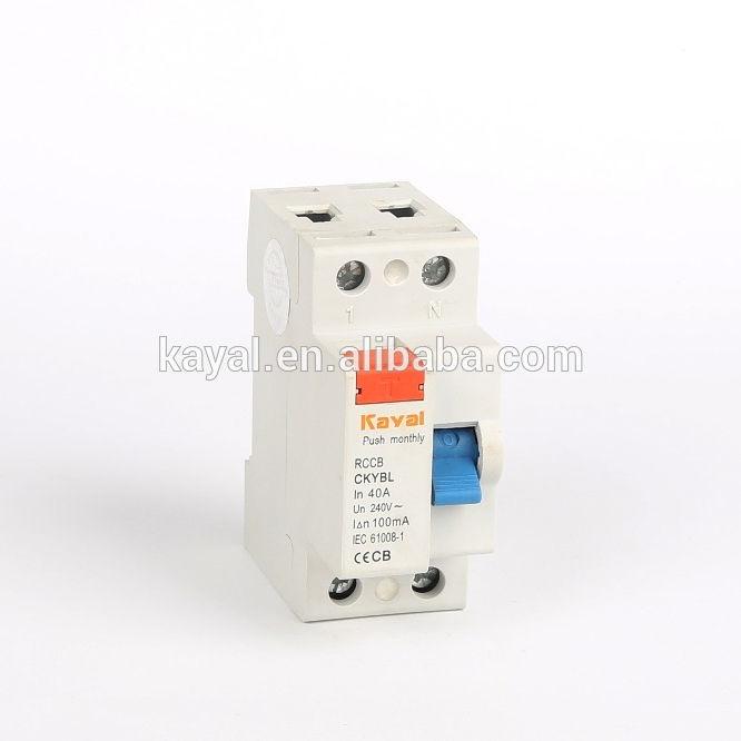 China Hersteller Direkt Ab Werk F360 30ma 100ma 300ma fi-schutzschalter leitungsschutzschalter