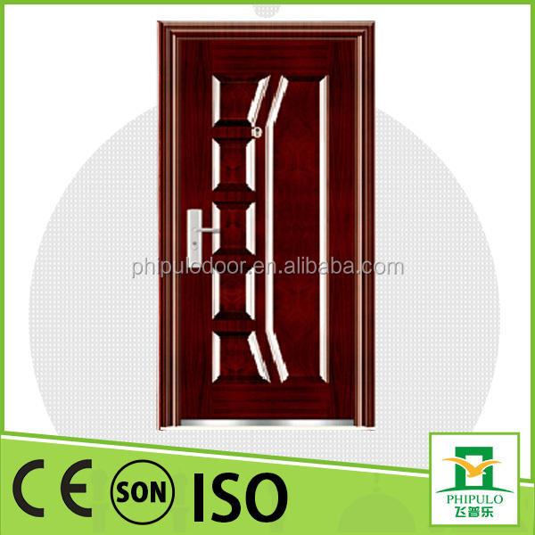 인도에서 인기가 집 게이트 디자인 사용자 정의 보안 강철 문 표준 크기