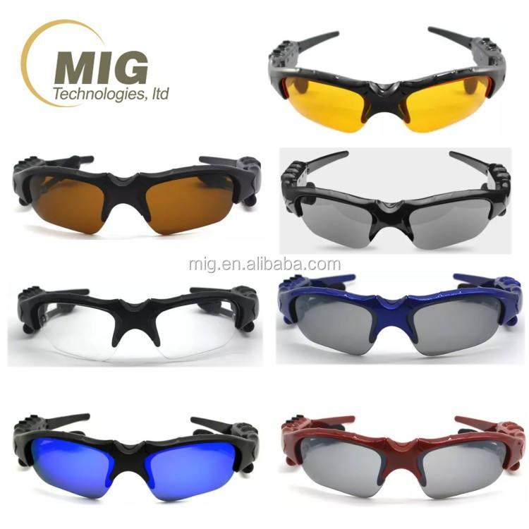 O envio gratuito de Alta Qualidade Atualizado Stereo BT 4.1 Óculos De Sol De fone de Ouvido sem fio do Fone de Ouvido portátil