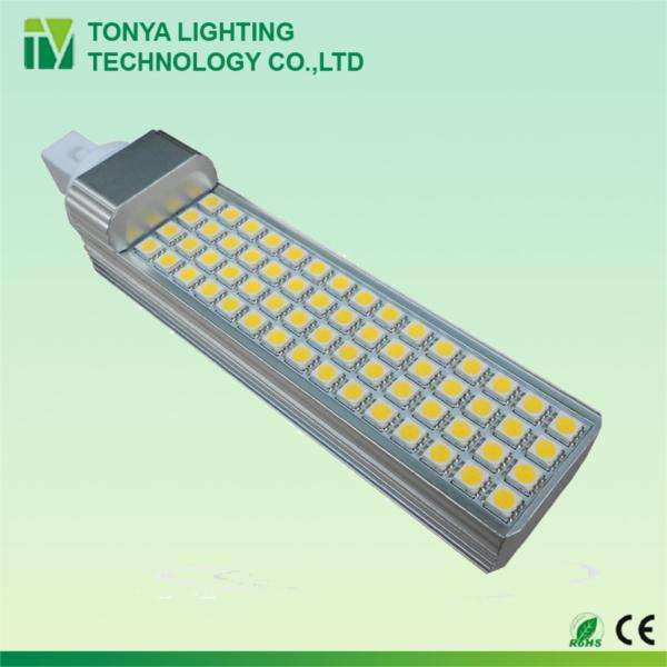 CE RoHS approved g24 <span class=keywords><strong>pl</strong></span> 13w <span class=keywords><strong>led</strong></span> lamp 60pcs 5050smd 2 years warranty