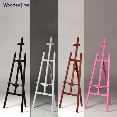 Hot Sale 150cm Multiple Colour Tripod Wood Painting Display Floor Easel Artist A-Frame Adjust Wooden Studio Easel, Artist Easel