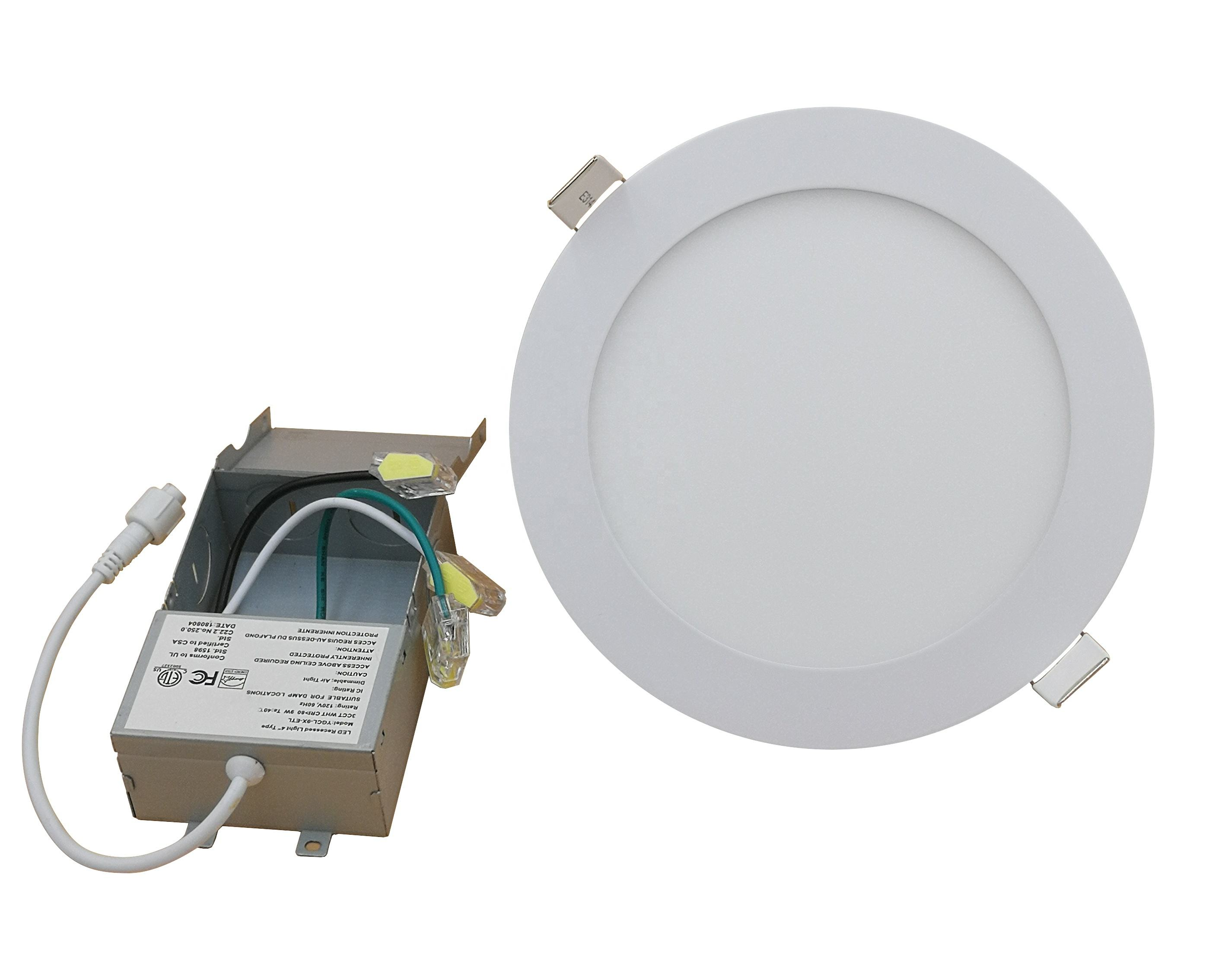 "6"" recessed led slim panel light 1000lm with Energy Star approved"