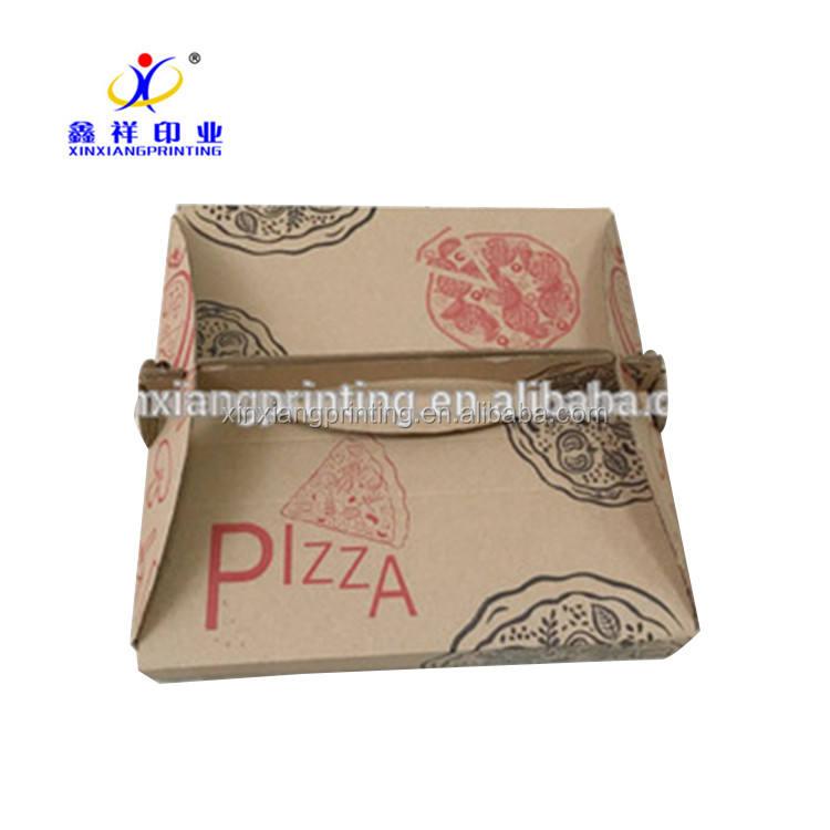 Настройка цвета! Пользовательские белого картона или гофрированной бумаги упаковочной коробки для пиццы