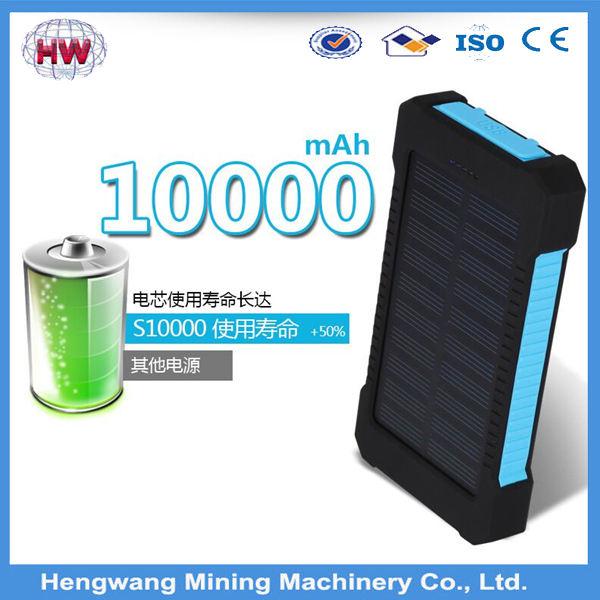 Nouveau Design de mode HW22 100% pleine grande capacité 8000 mah banque solaire portable pour smartphone
