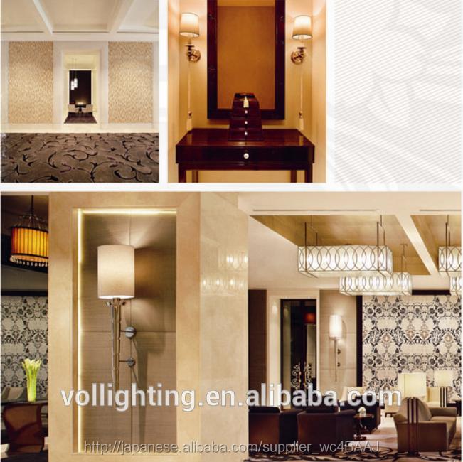 欧州プロジェクトの照明デザインのガラス壁壁取り付け用燭台照明ペンダントライトのためのホテル