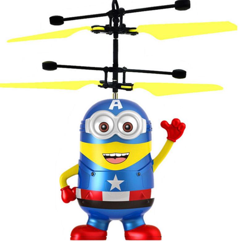 Helicópteros RC Juguetes Electrónicos Inducción Flying Robot sombrerero <span class=keywords><strong>Aviones</strong></span> <span class=keywords><strong>de</strong></span> <span class=keywords><strong>Control</strong></span> Remoto Mini