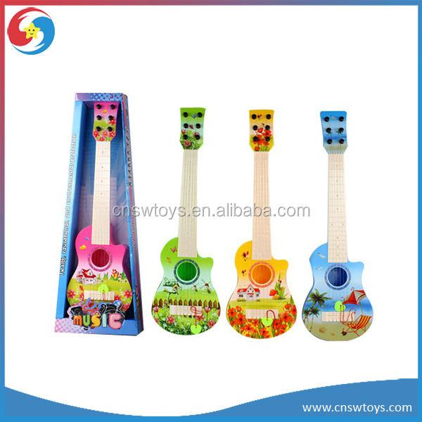 Dd0551610 atacado crianças <span class=keywords><strong>instrumentos</strong></span> <span class=keywords><strong>musicais</strong></span> de plástico colorido 21-inch seis cordas da guitarra de brinquedo