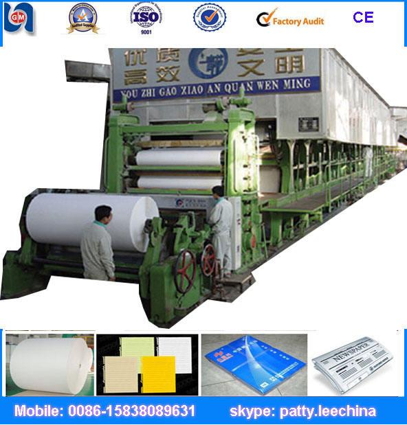 Bambus zellstoff, der maschine, um papier beachten fließband, a4/3 papierschneidemaschine