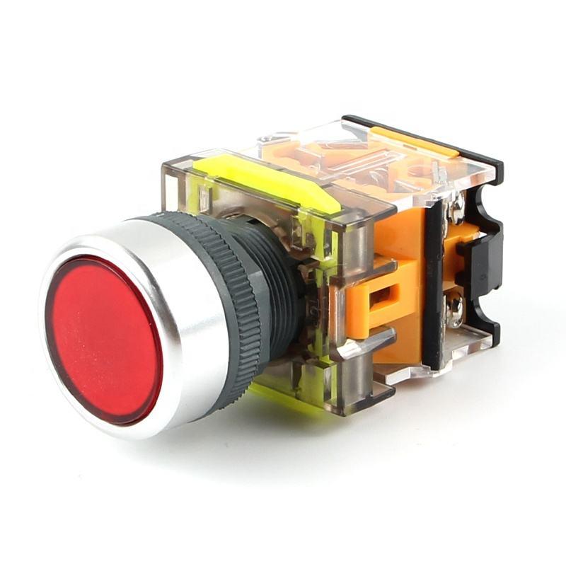 <span class=keywords><strong>Haboo</strong></span> fábrica directamente 22mm interruptor Ting cabeza con LED o no 1NO + 1NC/2NO/2NC Restablecimiento momentáneo