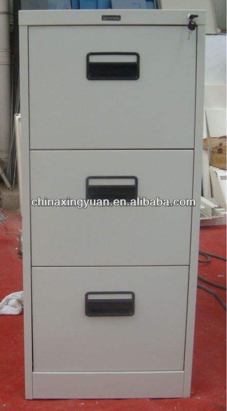 real fotos detalhadas móveis concisa branco 3 gaveta do armário de arquivo