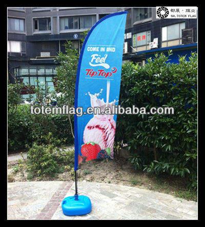 drapeau de plage avec des bâtons pour la publicité