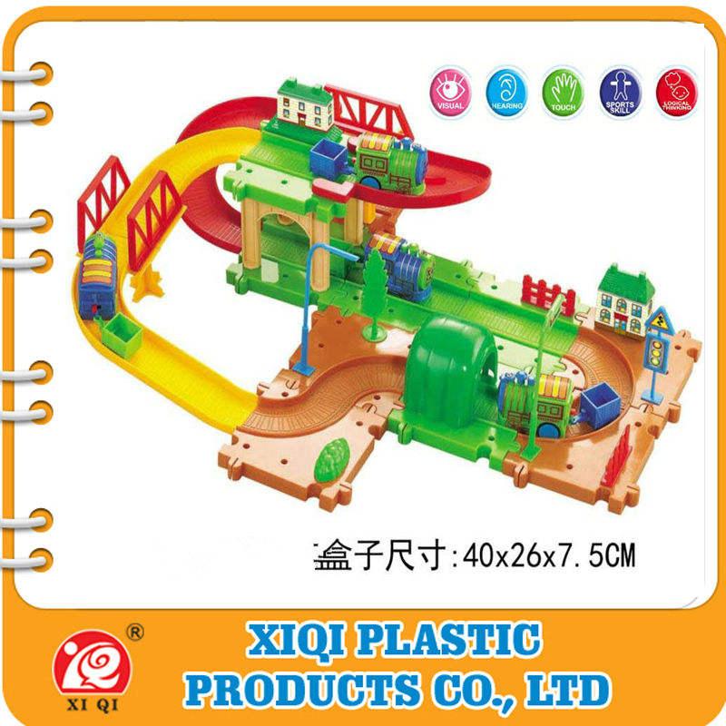 новый стиль новой полипропилен электричество вагон пластиковый блок игрушки с rh4040, en71,62115 все отчет