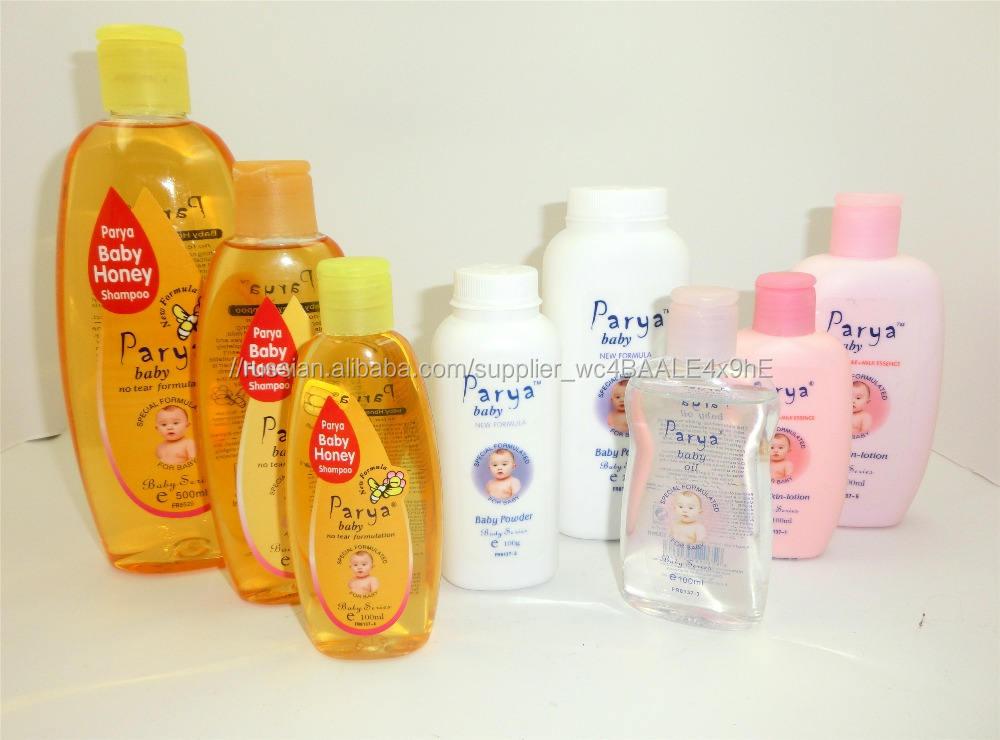 Parya естественный здоровый безопасности чистого мягкий ребенка мед шампунь масло порошок лосьон ребенка для ухода за телом