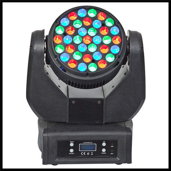 RGB色の変化37pcs3Wクリービームはヒードステージライトを移動