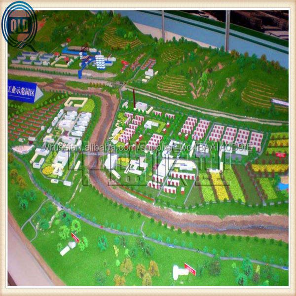 Миниатюрный город план модель / мастер планирование модель производитель / город планирование строительство модель