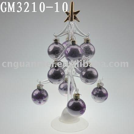 ガラスのクリスマスデコレーション2015ツリーの飾り