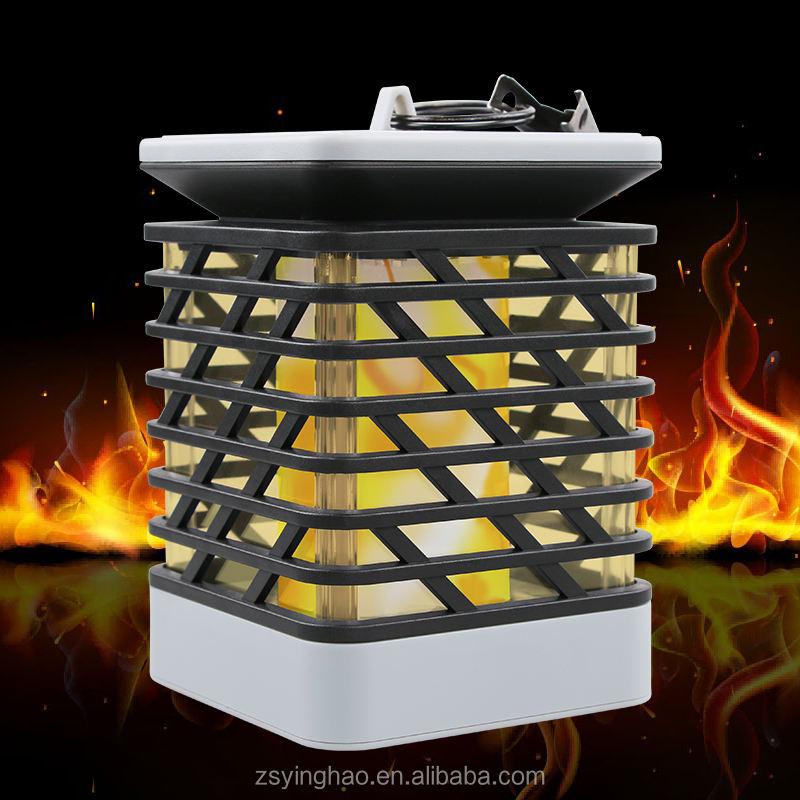 Solar del jardín luces de la antorcha 75 LED impermeable baile fuego llamas luz inalámbrica luz camino, decoración
