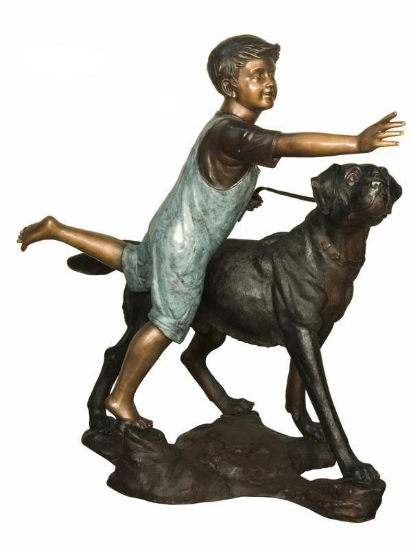 Presentes garoto de <span class=keywords><strong>bronze</strong></span> e <span class=keywords><strong>escultura</strong></span> cão