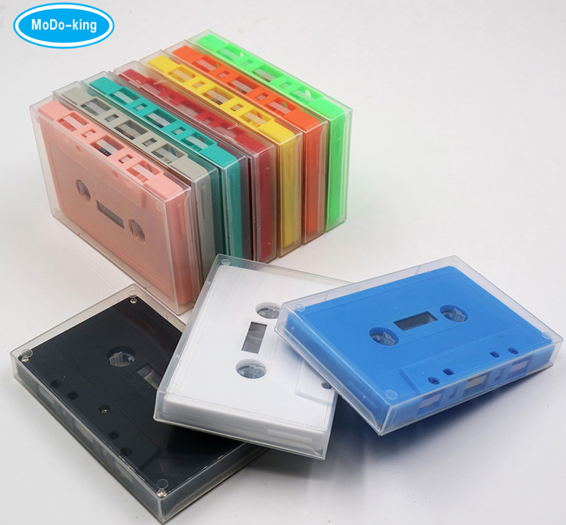Colored and Transparent Cassette Tape with 0/10/30/60/90/100 Min with Free Samples