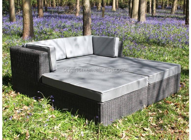 Casa grande usada sun fun Lounge sofa cama muebles de patio asiento exterior de ratán