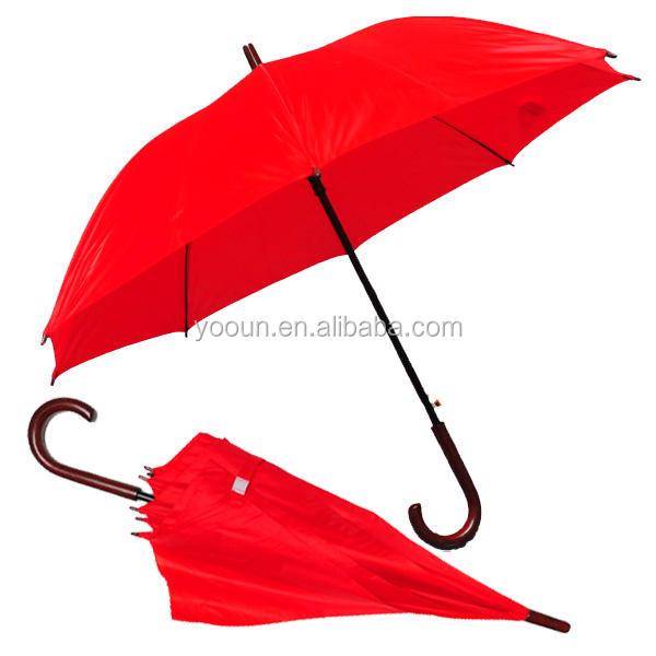 『238k昇進の傘の白い雨ハンドル赤い色