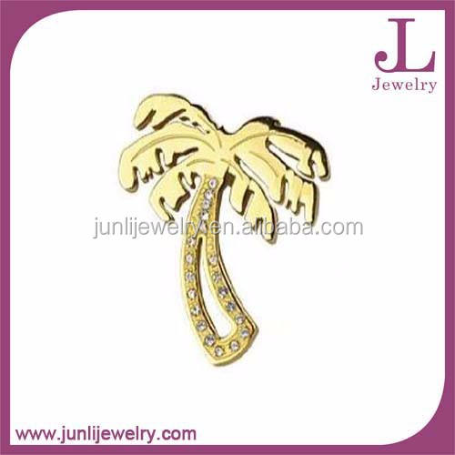 2015 gold vergoldet Edelstahl Anhänger Exquisite Palm Tree Anhänger