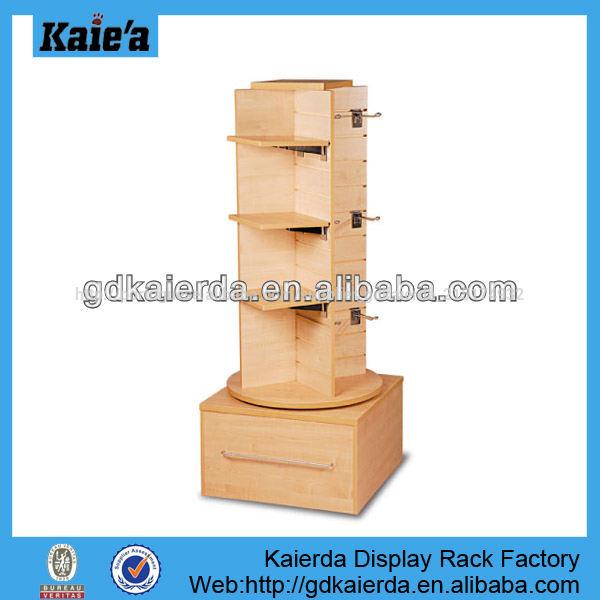 Cremalheira de exposição rotativa/girando stand sapato/<span class=keywords><strong>rotação</strong></span> de exposição de <span class=keywords><strong>madeira</strong></span> stand