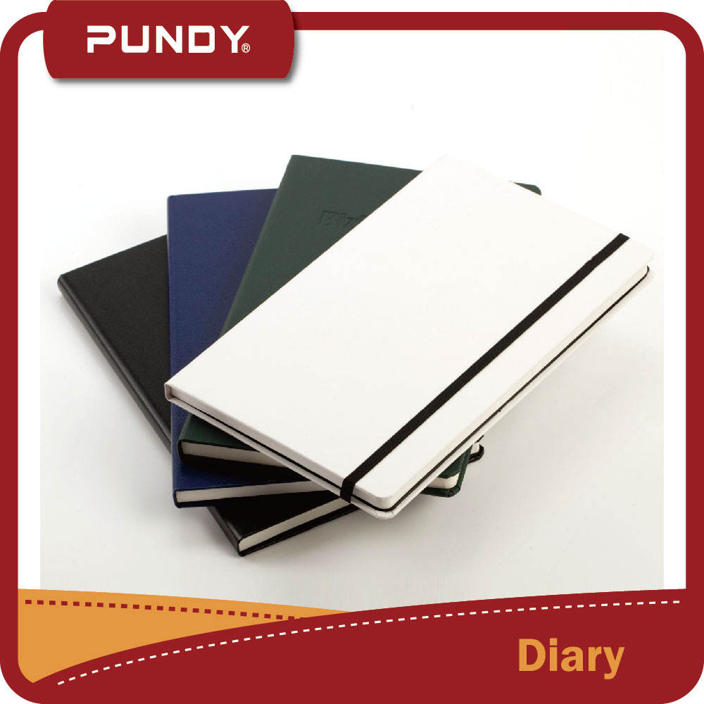 2017 neue design pu tagesplaner notebook milchprodukte mit gummiband