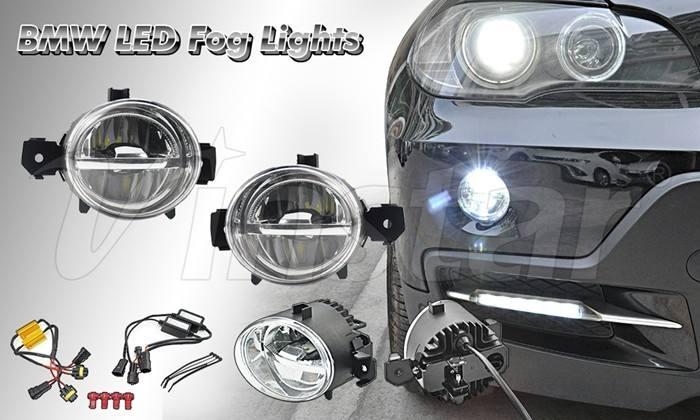 Vinstar venta caliente después de mercado LLEVÓ la luz de niebla a prueba de agua luz de niebla del led plug and play BW X5 E70