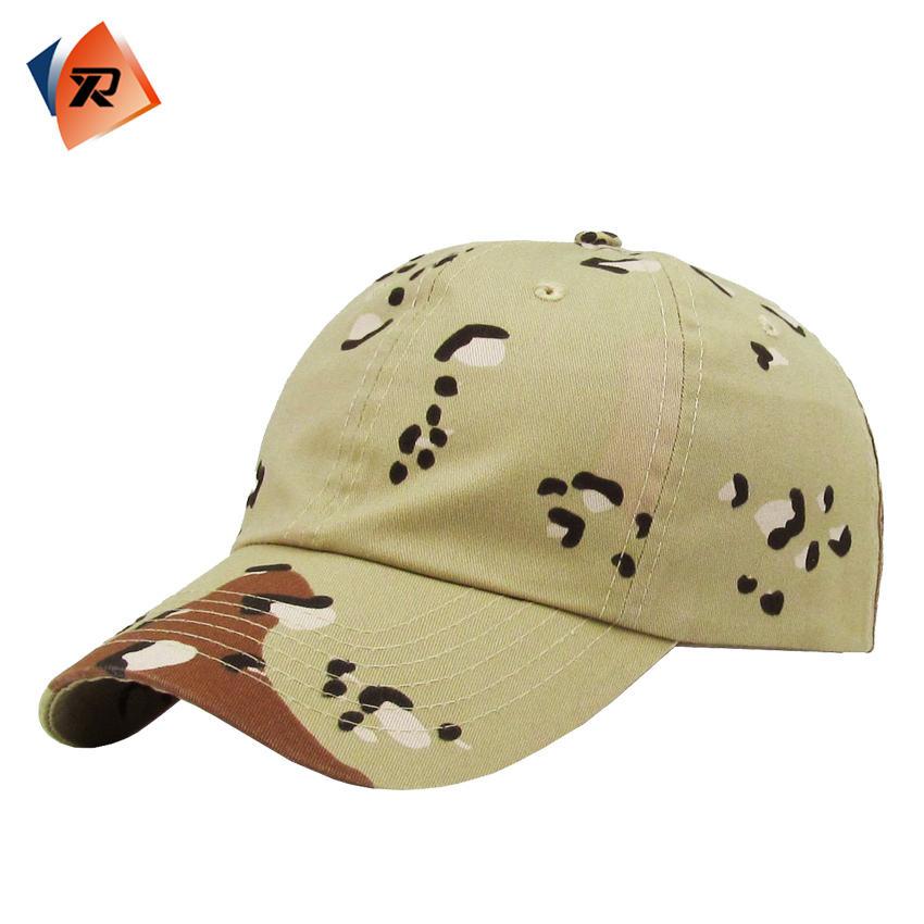 6 panel blanco CAMO sombrero/CAP