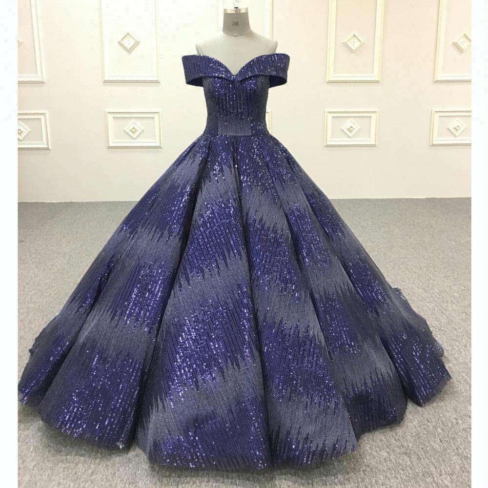Custom Made Royal Blue Sweetheart Bóng Gown Trung Quốc Hôn Nhân Wedding Dress
