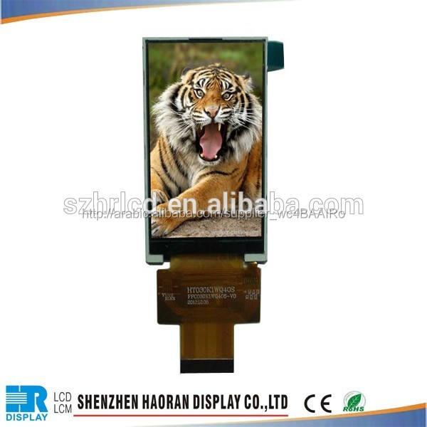 100% الأصلي 240*400 3 بوصة lcd مع سطوع عالية في الهواء الطلق لشاشة tft رصد الخلفية المعدات الالكترونية