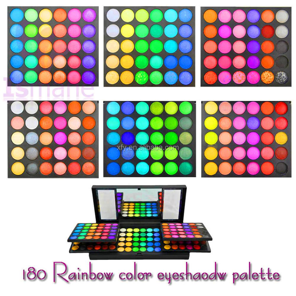2016 Nuevo Llegado Maquillaje Paleta de colores Cálidos/Brillo de Doble Capa de 180 Colores de Sombra de Ojos Con El Espejo