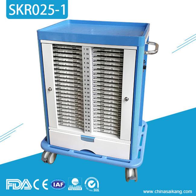 SKR025-1 <span class=keywords><strong>Chariot</strong></span> d'allaitement de traitement médical de médecine d'hôpital avec des roulettes