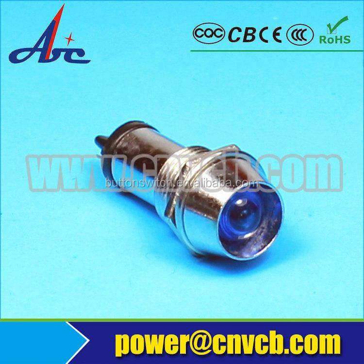 ZS143 indicador LED lente de la luz 120 v 12 MM metal lámpara piloto 12mm piloto de fábrica