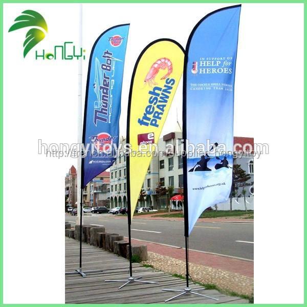 Gros bon marché de la publicité extérieure personnalisée. plage drapeau pôle
