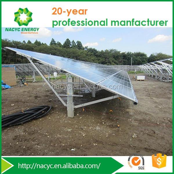 Солнечный Модуль PV Однополюсный <span class=keywords><strong>Земли</strong></span> Кронштейны Системы Солнечных Батарей