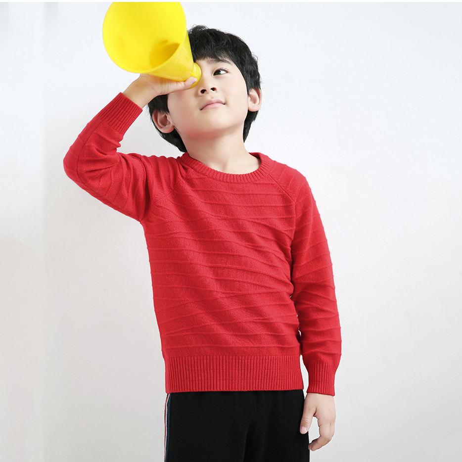 Comfy 100% кашемировый пуловер Детские вязаные свитера