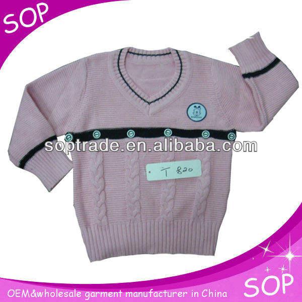 2013 розовый шерстяной свитер дизайн для новорожденных девочек из китая производитель