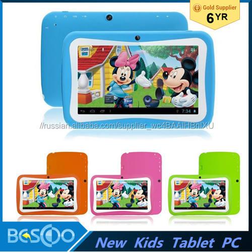 Дешевый НОВЫЙ 7 7-дюймовый Планшетный ПК Дети С Детьми Образовательных приложения RK3126 8Г ROM Android 5.1 pad для дети