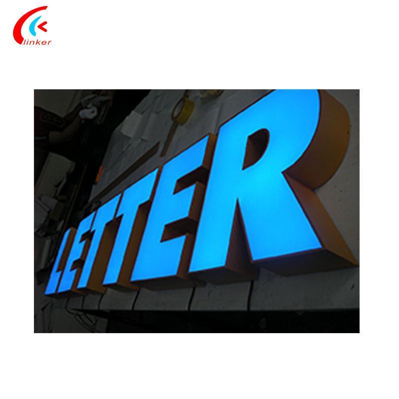 Acier inoxydable extérieure acrylique frontlit LED étanche lumière