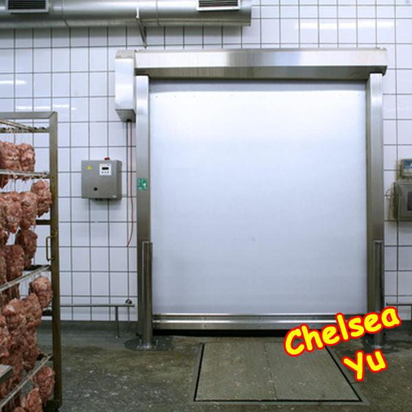 la fábrica de alimentos taller limpio rápido de rodillos de la puerta