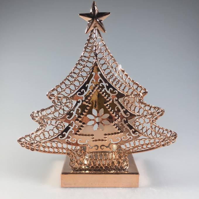 Albero di <span class=keywords><strong>Metallo</strong></span> a forma di natale tealight per la candela