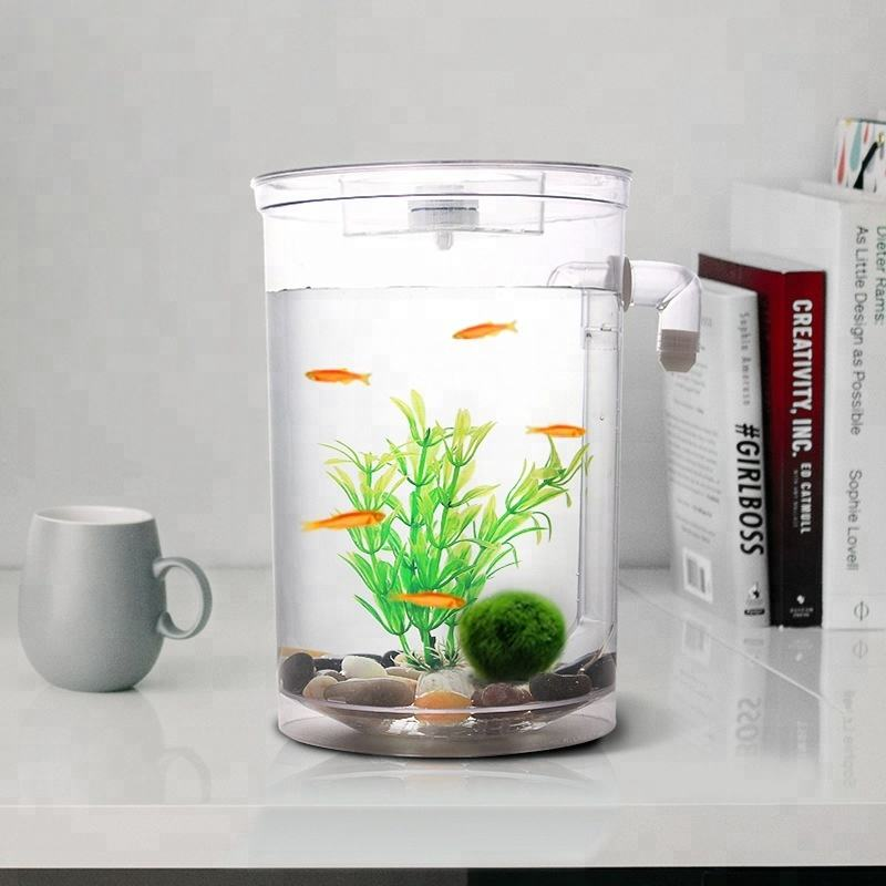 2018 factory direct sale Clear cylindrical Particular Ecological Acrylic Betta Aquarium Fish Tank
