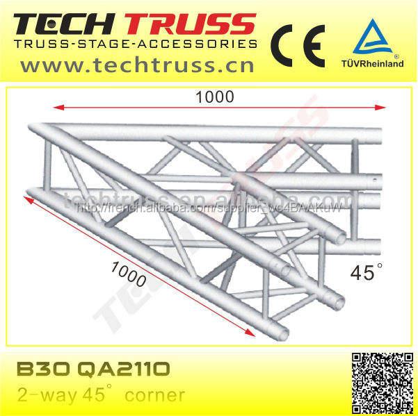 B30-qa2110 longueur 1000 mm haute qualité carré treillis coin pour la configuration de scène de concert