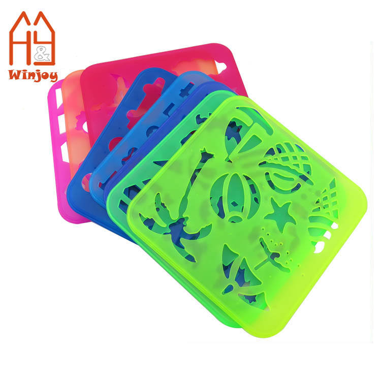 15*15CM Kids Big Plastic Drawing Template And Stencil
