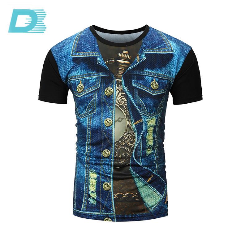 China Fornecedor 100% Dri Fit Esportes T-Shirt Da Impressão Da Tela de Poliéster Para Homens
